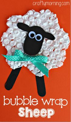 Bubble Wrap #Sheep #Craft for Kids - Fun sheep art project using #bubblewrap!