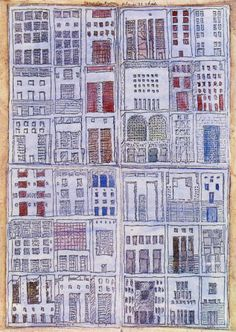 Rob Krier : Sketches on the Theme of the Corner House : Drawings that are variations on facade compositions.