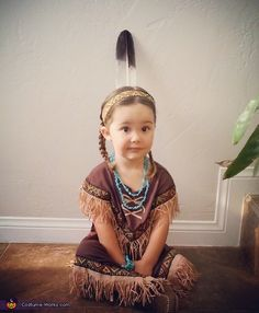 Dallas: My daughter Capitola showing some of her heritage pride by being a beautiful Native American for Halloween!.