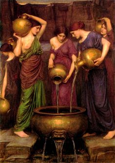 Danaides. J. Waterhouse. When Aegyptus and his fifty sons arrived to take the Danaides, Danaus gave them, to spare the Argives the pain of a battle. However, he instructed his daughters to kill their husbands on their wedding night. Forty-nine followed through, and subsequently buried the heads of their bridegrooms in Lerna;[3] but one, Hypermnestra, refused because her husband, Lynceus, honored her wish to remain a virgin.