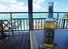 Do photos of beer in front of tropical backgrounds ever get old?  No.  They don't.  mjsailing.com  Sailing blog.