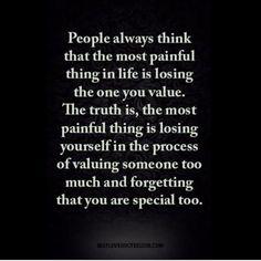 To myself...