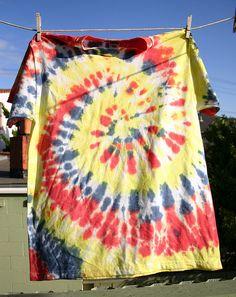 Tie Dye T-Shirts by Wendy Copley, via Flickr
