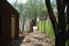love the cor-ten exterior and colored wall. 400 Rubio Avenue + Convent Avenue Studios