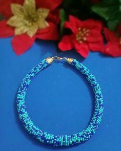 """336d4e5e8b87 Variedades Jasny on Instagram  """" collar  tubular  mostacilla  china  azul   moda  belleza  accesorios  bisuteria  joyas  hechoamano  queregalar."""