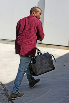 Kanye West wears Thom Browne Plaid Flannel Button Shirt | UpscaleHype