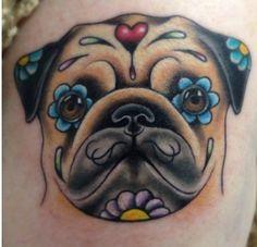 Pet sugar skull tattoo. Awesome tattoo!!!!! :)