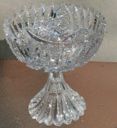 Hawkes Signed Large Cut Crystal Punch Bowl Pedestal