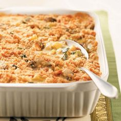 Summer Squash Mushroom Casserole Recipe from Taste of Home -- shared by Jennifer Wallace of Canal Winchester, Ohio