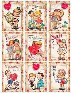 Vintage Cards, Vintage Paper, Retro Vintage, Vintage Halloween Crafts, Printable Valentine, Valentine Cards, Pocket Craft, Graffiti, Making Greeting Cards