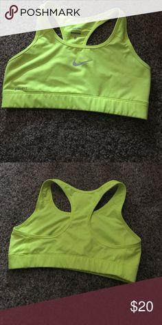 cf600b37a408f NWOT Nike sports bra Never worn. Size medium. Neon yellow dri fit sports bra