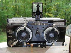 Gaumont Spido Metallique Grand Prix 1900 Stereo Camera w/ Tessar F/6.3 lenses #StereoSpido