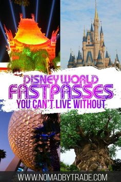 If you're planning a Disney World vacation, booking FastPasses is essential. This guide has a list of the best FastPasses at the Magic Kingdom, best FastPasses at Epcot, best Fastpasses at Animal Kingdom, and best FastPasses at Hollywood Studios. Disney World Vacation Planning, Walt Disney World Vacations, Disney Planning, Disney Cruise, Disney Travel, Disney World Magic Kingdom, Disney World Parks, Disney World Tips And Tricks, Disney Tips