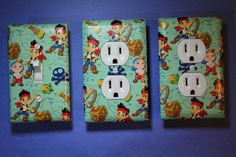 Jake and the Neverland Pirates 3 pc Set Light Switch Cover boys room child decor