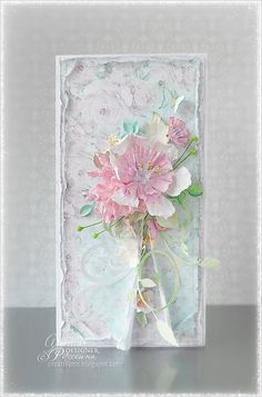 Scrapbooking Shabby chic. Card.