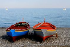 Colorful boats in Calabria