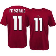 Nike Youth Arizona Larry Fitzgerald #11 Red T-Shirt, Kids Unisex, Size: XL, Team