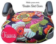 Backless Booster Seat Cover Pattern-booster seat cover pattern, dowloadable pattern