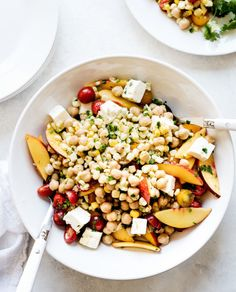 Tomato, Corn and Chickpea Salad