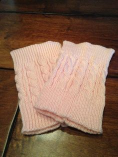 Pink Womens Boot Cuff Knitted Boot Cuff Knit by ColoradoChickCo