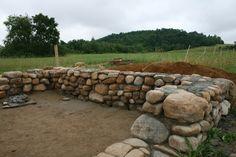 """18"""" thick fieldstone (rubble) foundation"""