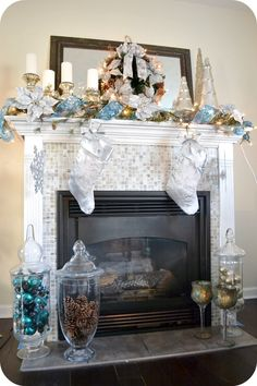 love the tile fireplace with white trim but I do not like the tile in front. Should have just left the wood floor.