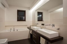 A new custom bathroom not only looks beautiful, it makes great use of space.