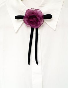 Black bow tie with camellia flower, Female Bow tie, Everyday jewelry, Purple pink flower brooch, wom Velvet Bow Tie, Velvet Ribbon, Purple Pink Color, Burgundy Color, Bee Brooch, Flower Brooch, Brooch Pin, Dance Accessories, Women Accessories