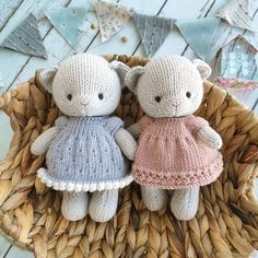 Doll Toys, Dolls, Little Cotton Rabbits, Knitted Animals, Knit Or Crochet, Bunny, Teddy Bear, Knitting, Crafts