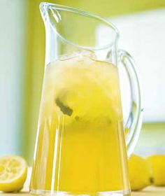 Lemon Iced Tea--trying to find alternative to lemonade concentrate in my sweet iced tea recipe.  This will do!  And none of that corn syrup.