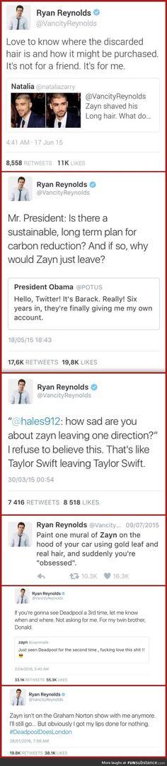 Ryan Reynolds and Zayn