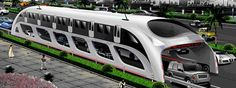 """China's """"3D Express Coach"""" (aka """"three-dimensional fast bus"""" 