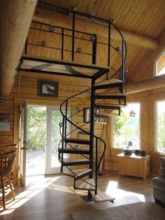 Rustic Room with Spiral Staircase Spiral Staircase Room Rustic spiral staircase Rustic Room with Spiral Staircase Spiral Staircase Room Rustic spiral staircase Loft Staircase, Modern Staircase, Spiral Staircase, Grand Staircase, Spiral Stairs Design, Staircase Design, Feng Shui Stairs, Rustic Stairs, Rustic Room