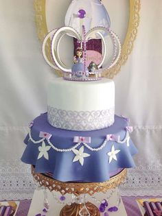 Wow!! Just look at this fantastic Sofia the First birthday cake!! See more party ideas and share yours at CatchMyParty.com