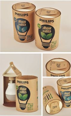 LED light bulb for rural India (Student Project) on Packaging of the World - Creative Package Design Gallery Design Poster, Label Design, Package Design, Packaging Design Inspiration, Design Packaging, Electronic Packaging, Smart Packaging, Deco Led, Cardboard Packaging