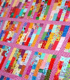 Great scrap quilt and tutorial