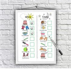 Here we have an imagery routine chart for the little angel in your life! This chart is the perfect visual aid for those pre-school children, toddlers or children with SEN, ASD, ADHD, GDD or need that visual aid as oppose to wording on their charts.  IT IS AN INSTANT DOWNLOAD. IT WILL BE AVALIABLE TO DOWNLOAD STRAIGHT AFTER PURCHASE. PLEASE PRINT USING HIGH QUALITY PRINTING CARD OR GLOSSY CARD. USE THE HIGHEST QUALITY PRINT SETTINGS OR TAKE THE FILE TO YOUR LOCAL PRINTERS. FRAME THIS PRINT IN…