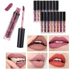 SHERUI 6pcs Madly MATTE Lipstick Lipgloss Bold Vivid Color Matte Lipgloss *** Visit the image link more details. Note:It is affiliate link to Amazon. #tflers
