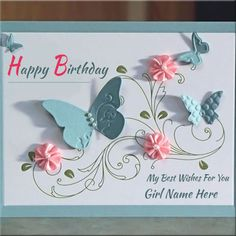 Handmade Birthday Wishes Card With EmilyCreatorPersonalized Girls Name On Happy ECard Online