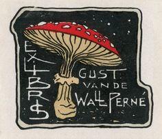 mushroom bookplate