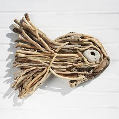 Driftwood Stick Fish | Wooden Fish | Seaside Art | Driftwood Fish - buy the sea