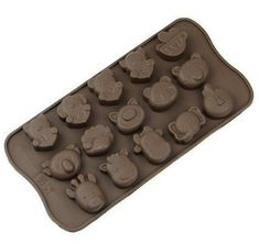 Longzang 4-Cavity Mickey Mouse Silicone Cake Chocolate Craft Candy Baking Mold