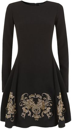 Cavalli Embellished Skater Dress - Lyst