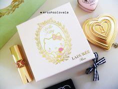 Laduree Paris French Macarons HELLO KITTY 150 year anniversary Limited  Edition pink gold cameo chocolate gift box f37e61b723423