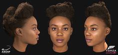 A selection of the driver heads and hairstyles we worked on during the production of Forza Horizon The title was extremely well received winning the award for Best Sports/Racing Game at the Game Awards and received a 91 on Metacritic. Forza Horizon 3, 3 Characters, Game Character, Curly Hair Styles, Face, Game Art, Video Game, Awards, Racing