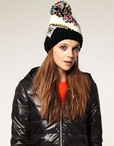 Accessorise a LBD with a fair isle beanie. Style with a winter twist. Perfect for those bunny slopes. #macwonderland