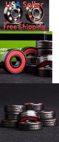 Bearings 36624: 16Pcs Freesport 608Rs Ceramic Skate Bearings 22X8x7mm Us Seller (Free Shipping) -> BUY IT NOW ONLY: $36 on eBay!
