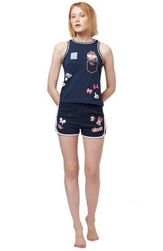Topshop 'Mickey & Minnie Mouse' Pajamas available at #Nordstrom