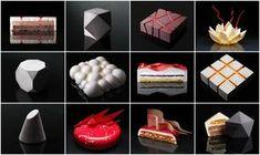 Fancy Desserts, Köstliche Desserts, Plated Desserts, Architecture Cake, Geometric Cake, Mould Design, Food Plating, Cake Designs, Food Inspiration