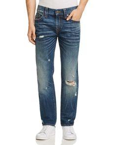 True Religion Geno Straight Fit Jeans in Worn Mystic